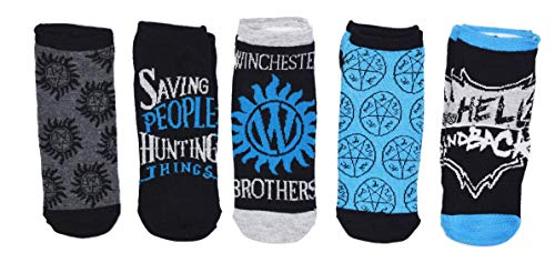 Supernatural Winchester Brothers 5 Pack Ankle Socks -