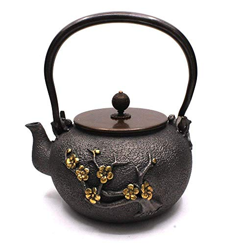 TOWA Workshop Japanese Tetsubin Tea Kettle Cast Iron Teapot pots for stove top (MHT/1300ML) (Cast Iron Stove Antique)
