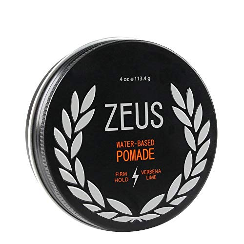 Jar Pomade - ZEUS Firm Hold Pomade for Men - Paraben Free - Firm Hold Styling Pomade for All Hair Types (4.0 oz Jar)