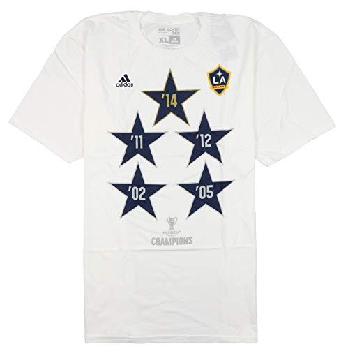 adidas Men's Los Angeles Galaxy Championship T-Shirt XX-Large White