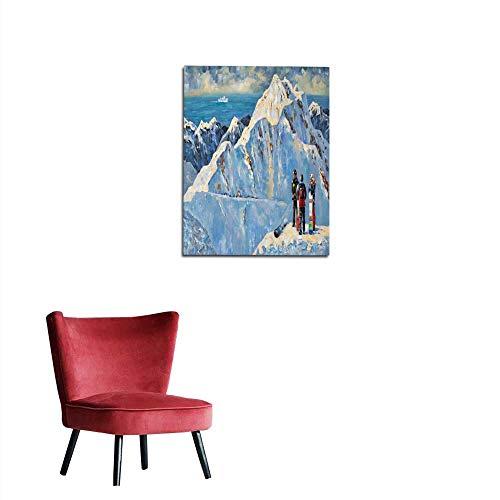 longbuyer Wallpaper Painting Snowboarders at The ski Resort of Rosa Khutor Near Sochi Russia Author Nikolay Sivenkov Mural 16