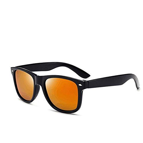 LBY de Hombres Black Green Polarizadas De Moda Black Sol Sol Gafas De Conducción Gafas Color De Hombre Pilotos Gafas Orange para Sol rUwOq0r