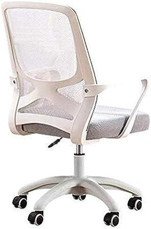 Silla de Oficina, de una Silla de Malla Ordenador, ergonómico con Ruedas Confortable Silla del Acoplamiento, Ajustable elevación giratoria Silla de Trabajo, Grey