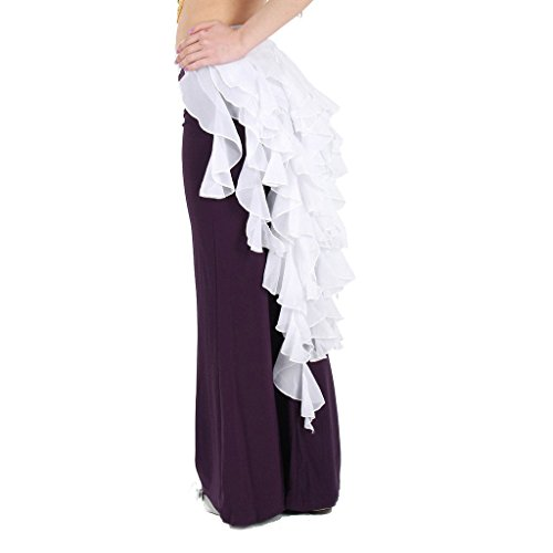 Fringe Hip Belt (Pilot-trade Women's Belly Dance Hip Scarf Belt Skirt Latin Dance Belt Performance Tassel Wave skirt)