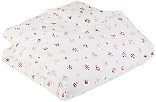 Pinzon Flannel Duvet Cover Twin Falling Snowflake