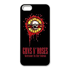 LJF phone case Rockband Modern Fashion Guitar hero and rock legend Phone Case for iPhone 5S(TPU)
