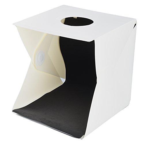 ALLCACA Portable Mini Photo Studio 11.8''x11.8''/30x30cm Portable Photo Studio Tent With LED Light Small Folding Product Lighting Kit, White by ALLCACA