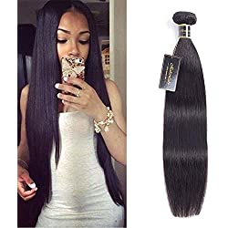 Modernlady 8A Brazilian Hair Straight 1 Bundle 18inch 100% Unprocessed Virgin Human Hair Weaves Natural Color