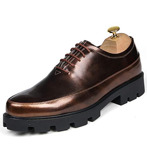 in Impermeabile da Sottopiede Cricket Aumentata Oxford Pelle Scarpe Fashion Suola Uomo Classic Vernice Verniciata in Gold Business Scarpe Casual da Altezza 0qKW5H07