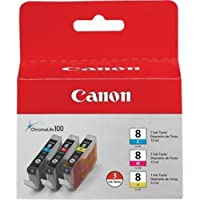 Canon 0621B016 CLI-8 3 Pack C /M /Y Value Pack