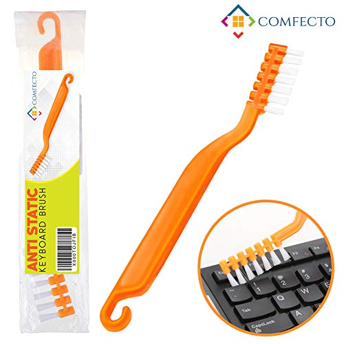 Anti Static Brush Computer Cleaning Brush, Keyboard Brush with Anti Scratch Bristles Non Slip Grip Sturdy Hook to Remove Dust and Clean Electronic PC Motherboard PCB Laptop