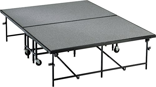 8' High Riser (Midwest Folding Products 6' Deep X 8' Wide Mobile Stage 16 Inch High Polypropylene)