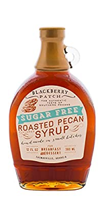 "Roasted Pecan Syrup, ""SUGAR FREE"" Blackberry Patch 12 oz"