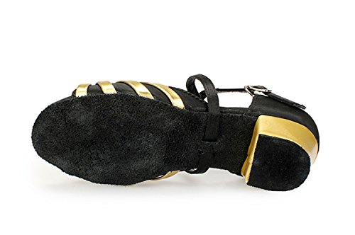 Gold Strappy Latin Tango Wedding Satin KBTS010A Black Salsa Miyoopark Sandals Knot Women's ZxqPEEAH
