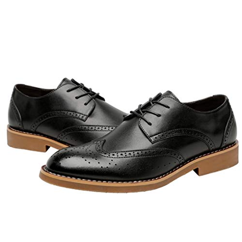 - Starttwin Men's Dress Shoes Breathable Wingtip Brogue Business Oxford Shoes
