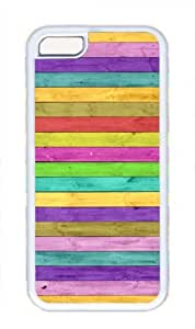 Colorful Stripe Streak Wood Pattern Theme Iphone 5C Case