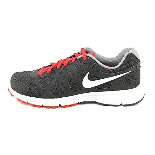 Mens Nike Revolution 2 Running Shoe Black/Varsity Red/Cool Grey/White Size 10.5