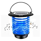 Diaotec Solar Powered Bug Zapper, Mosquito Killer Fly Insect Trap Waterproof - with Night Light for Indoor/Outdoor Use
