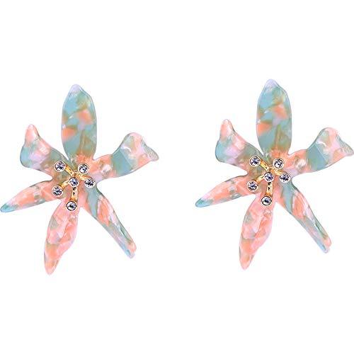 Xiausyang Silver Needle Exaggerated Flower Earrings Female Sweet Wind Fashion Simple Earring y1095 (Acrylic Flower)