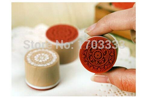 - Stamps - Dhl 300pcs Sweet Lace Series Wood Round Stamp Gift 6 Designs Wholesale Fj53 - Name Boys Spanish Nativity Making Mats To Pad Holtz International