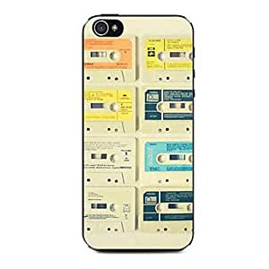 QHY Audio Tape Pattern Hard Case for iPhone 4/4S