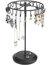MyGift 14-Inch Bronze Rotating Necklace Holder Bracelet Stand/Jewelry Organizer/Jewelry Tree