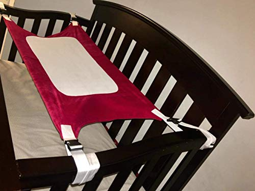 Healthy Silk Sleep Helper - Baby Crib Hammock Crescent Womb Baby Hammock, amacas para niños,Baby Hammock for Crib,Crib Hammock, Lullaby Hammock for Crib,Baby Crib Hammock,Baby Womb Hammock, Crib Hammock for Newborn-red