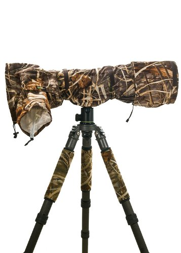 LensCoat RainCoat Pro (Realtree Max4 HD) camera lens rain sleeve cover camouflage protection LCRCPM4 by LensCoat