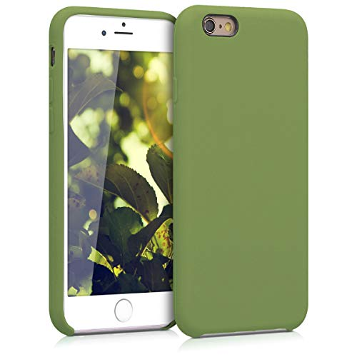 kwmobile TPU Silicone Case for Apple iPhone 6 / 6S - Soft Flexible Rubber Protective Cover - Pale Olive Green