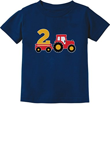 2nd Birthday Gift Construction Party 2 Year Old Boy Toddler/Infant Kids T-Shirt 4T Navy