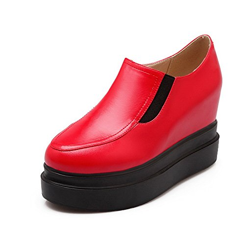 Muffin Shoes Girls Toe Pumps BalaMasa Leather Buttom American Red Round Imitated SBffaqgPw