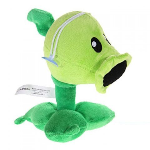 Plants Vs Zombies Plush Toy Peashooter 17Cm 6 7  Tall  Small Size