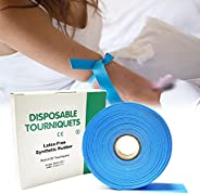 """Disposable Tourniquet for Adult Child - First Aid Kits Supplies, Latex Free, 18""""L x 1""""W, Roll"""