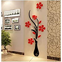 Acrylic 3D Vase wall stickers 80 x 40 cm