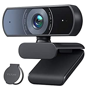 Flashandfocus.com 41tZwLk45XL._SS300_ Victure 1080P Webcam with Privacy Cover, Dual Stereo Microphones PC Camera, Full HD Video Camera for Computers PC Laptop…