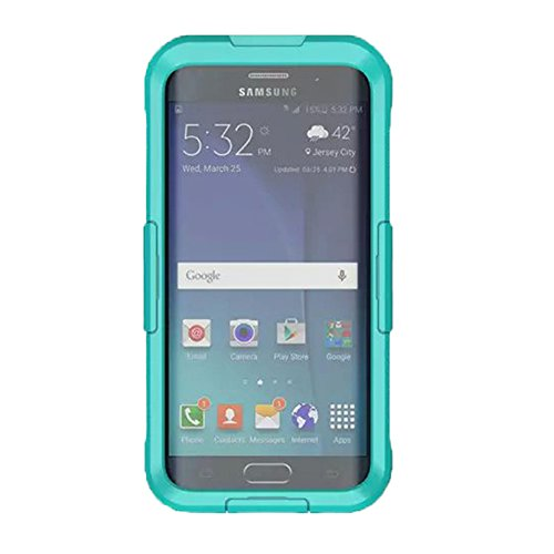 VEGO Samsung Galaxy S6 Edge Plus Waterproof Case, Full Body Sealed Waterproof Dirtproof Snowproof Durable Case Cover with Touch Responsive Front Screen Protector for Samsung Galaxy S6 Edge+ (Teal)