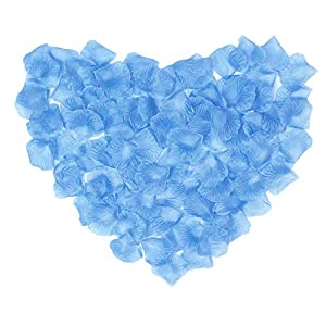 Livelynine Artificial Flowers for Wedding 1000PCS Petals Silk Rose Petals for Romantic Night Wedding Decorations Flowers Party Valentine's Day Events Home Decorations for Ceremony and Crafts,Sky Blue 10