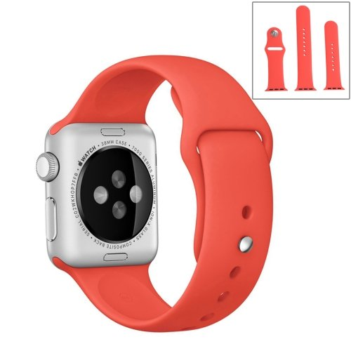 alsatek Pulsera de Silicona para Apple Watch Sport 38 mm Magenta
