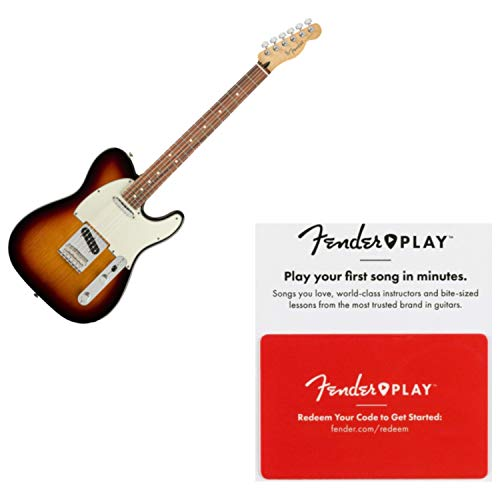 Fender Player Telecaster Pau Ferro 3-Tone Sunburst Electric Guitar w/Prepaid Fe