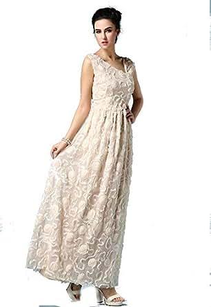 Princess Fashion Womens Sleeveless Formal Wedding Cocktail Evening Party Beach Casual Long Dress