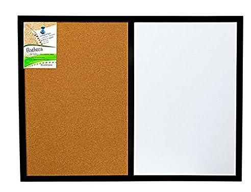 Tafel Pinnwand, Doppelte Verwendung, Magnet Und Kork, Schwarzer  Bilderrahmen Aus Holz, Cm