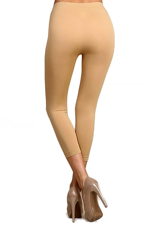 World of Leggings Premium Basic Nylon Spandex Capris Leggings ...