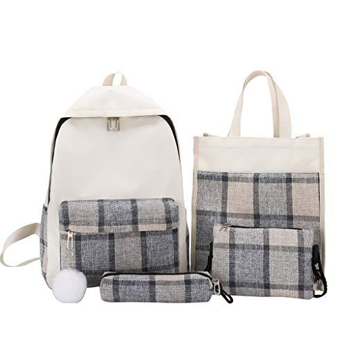 Vowes Women's Shoulder Bag Waist Bag Crossbody Fashion Plaid Print Retro Pencil Case Cosmetic Bag Combination Mom Bag