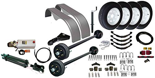 Dump Trailer Parts Kit - 7,000 lbs capacity - Tandem Brake Axles. Model 10HD (Deluxe) ()