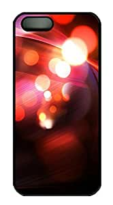 iPhone 5 5S Case Abstract Red Bokeh 13 PC Custom iPhone 5 5S Case Cover Black by Maris's Diary