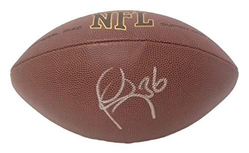 New England Patriots Lawyer Milloy Autographed Hand Signed NFL Wilson Football with Proof Photo of Signing, Atlanta Falcons, Buffalo Bills, Seattle Seahawks, UW University of Washington Huskies, COA