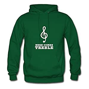 Caleter Here Comes Treble Painting Sweatshirts X-large For Women Green