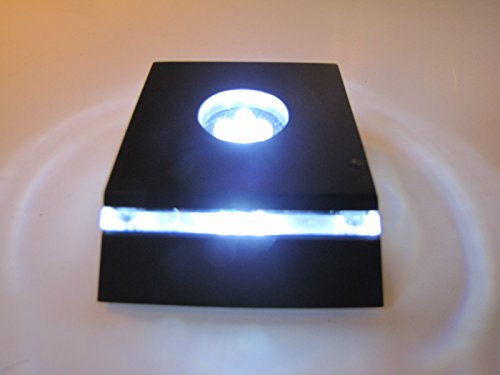 LED White Light Stand Base for Crystals / Glass Art - Ultra Bright (White Display Pedestal compare prices)