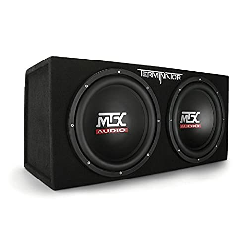 MTX Audio Terminator Series TNE212D 1,200-Watt Dual 12-Inch Sub Enclosure (Subs In Box)