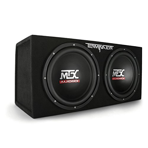 MTX Audio Terminator Series TNE212D 1,200-Watt Dual 12-Inch Sub Enclosure (12 Inch Subwoofers In Box With Amp)